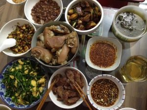 ארוחה משפחתית בסין